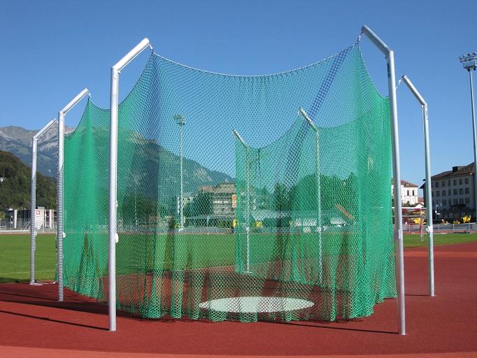 Diskuswurfanlage in der Schweiz von artec Sportgeräte