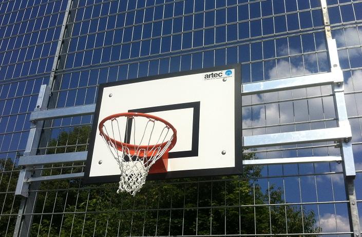 Klappbarer Basketballkorb von artec