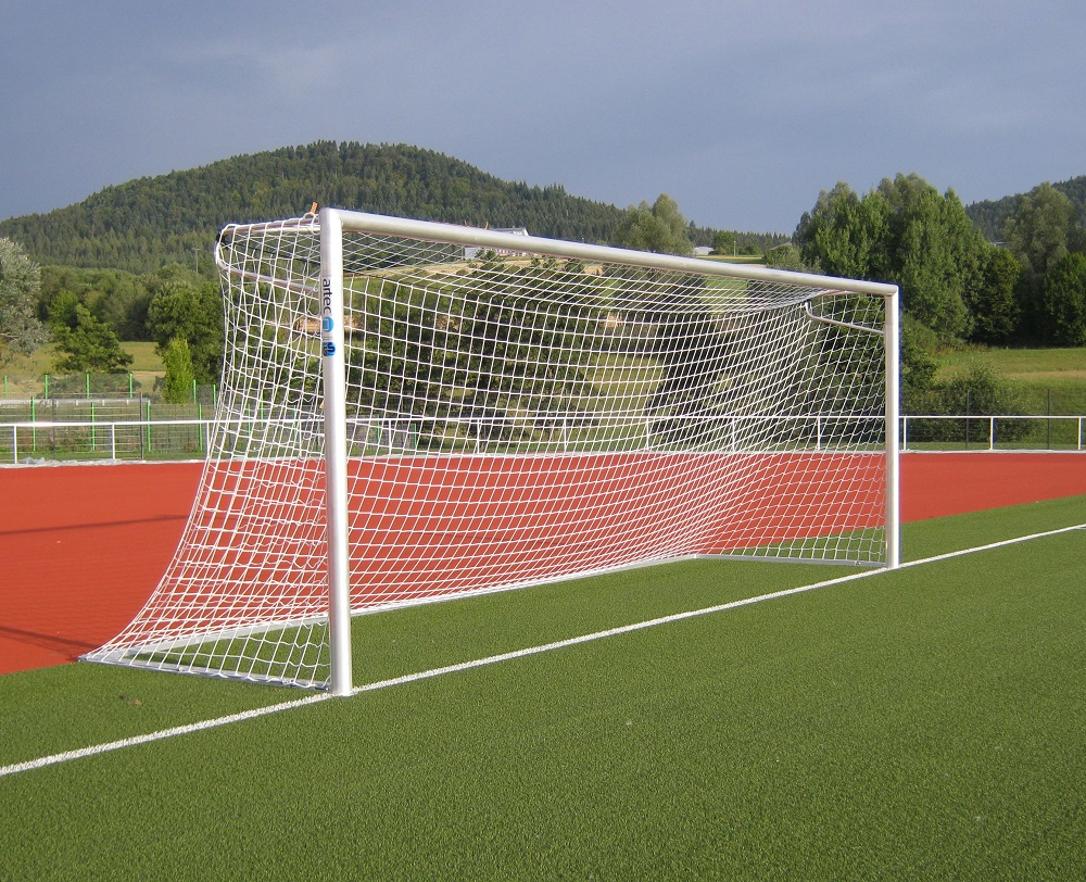 soccer goal with net elbows