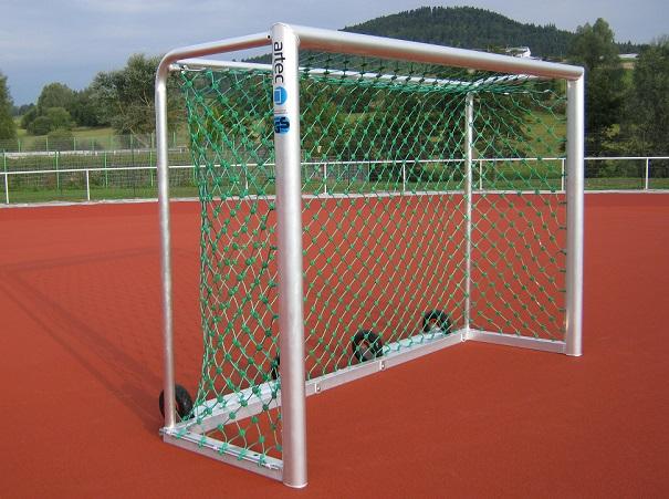 Handballtor mit Kippsicherung in Alu natur von artec Sportgeräte
