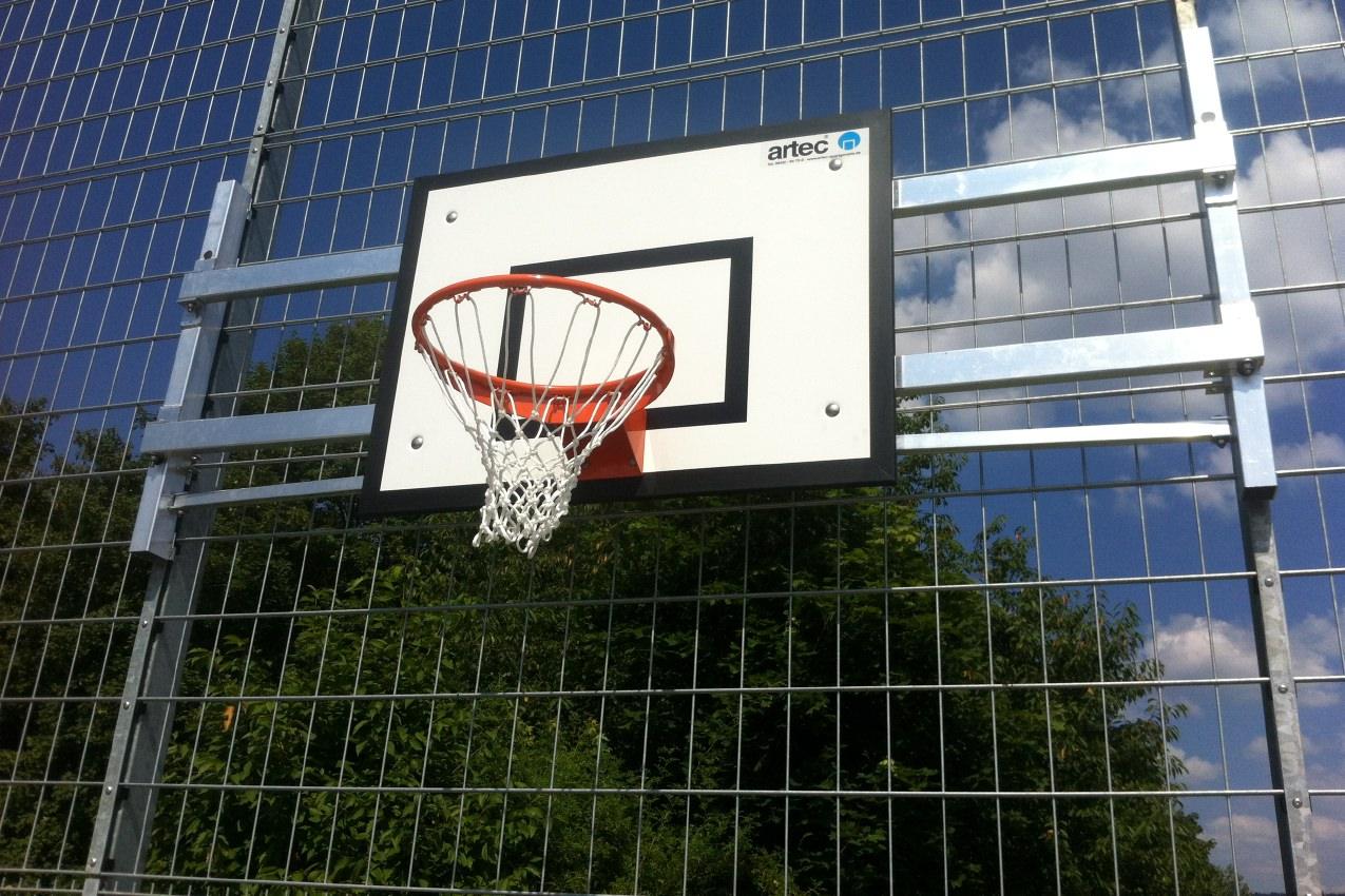 Basketball-Anlage als Wandkonstruktion von artec Sportgeräte