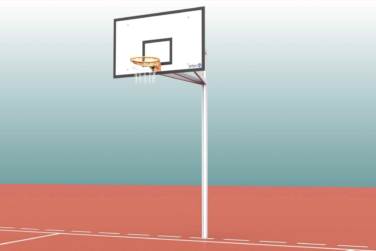 Basketball-Anlagen Einmast von artec Sportgeräte