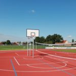 Schulzentrum Nordwalde Basketballanlage und Volleyballanlage
