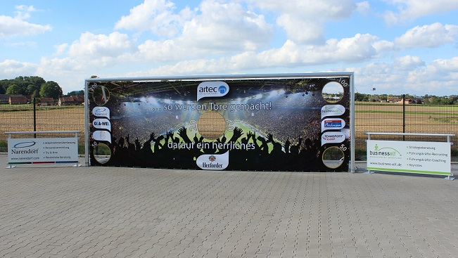 Torwand on Tour mit artec Sportgeräte