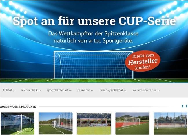 artec Shop Startseite - Sportgeräte & Fußballtore kaufen beim Hersteller