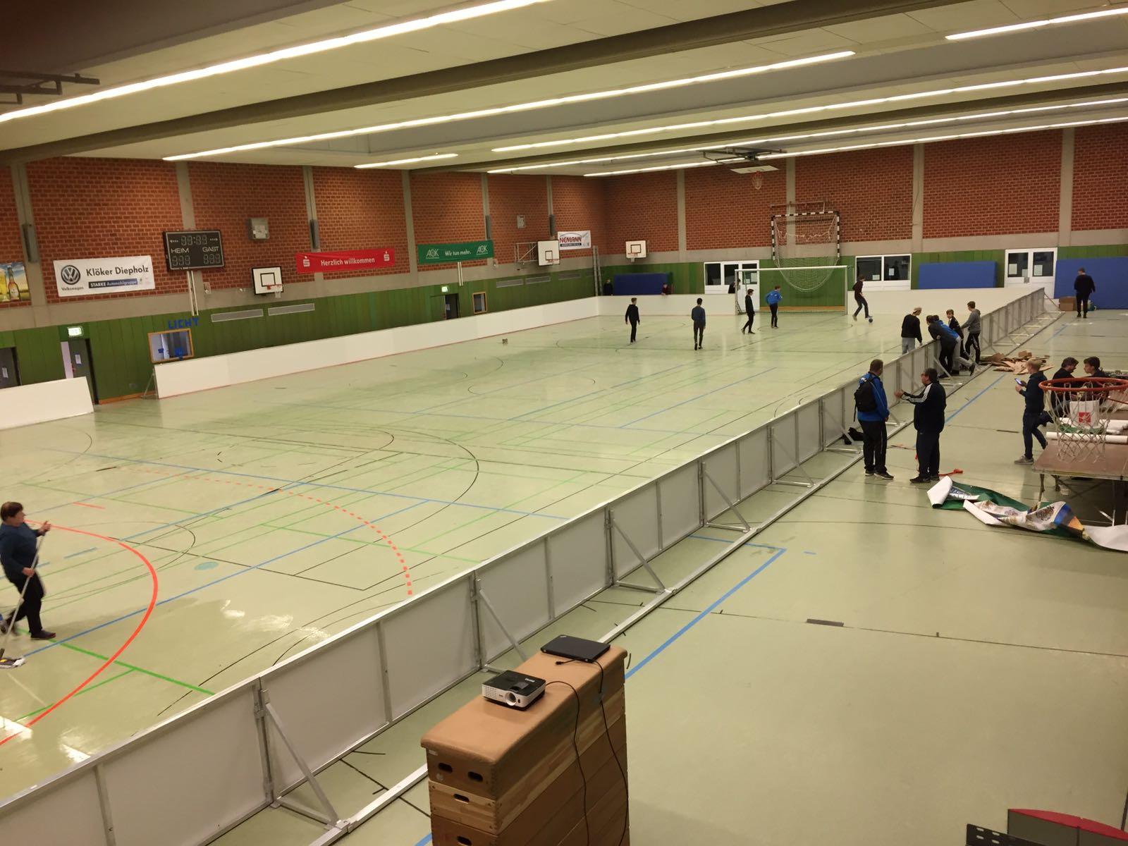 Mobiler Soccer Court beim U13 Cup