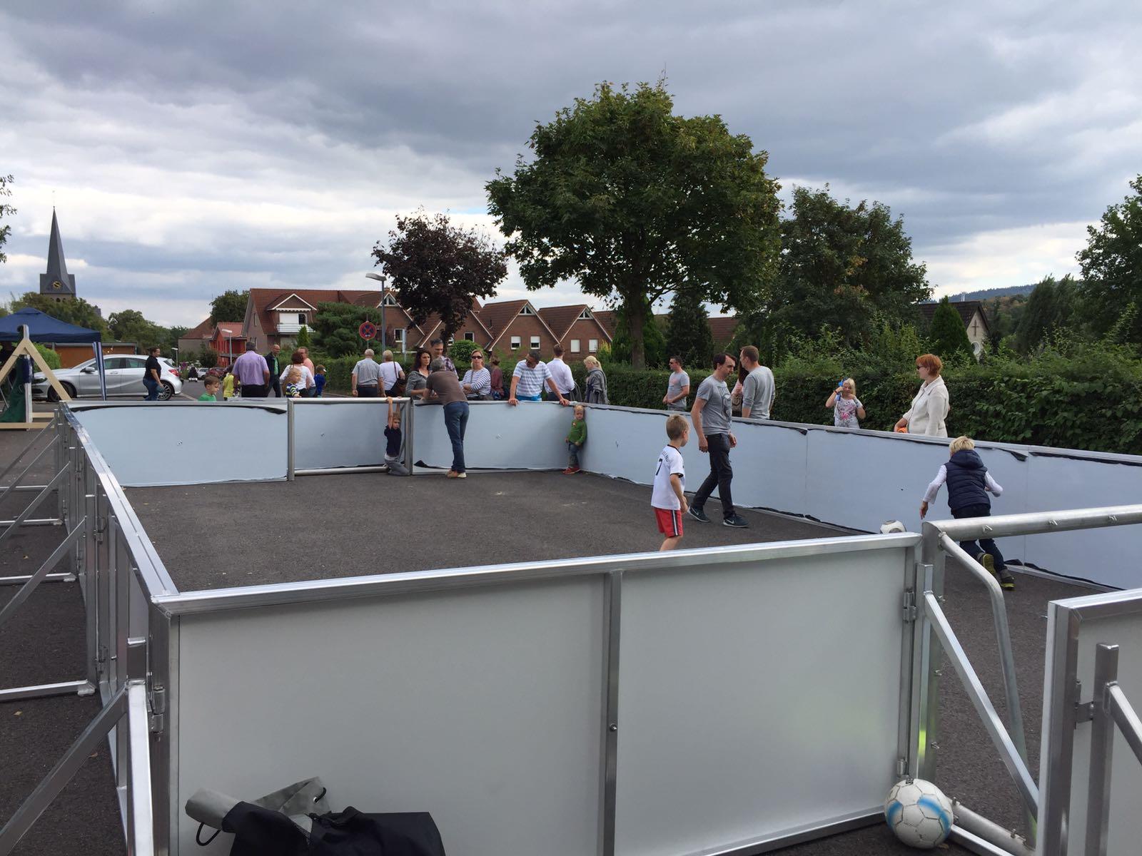 Mobiler Soccer Court für Veranstaltung