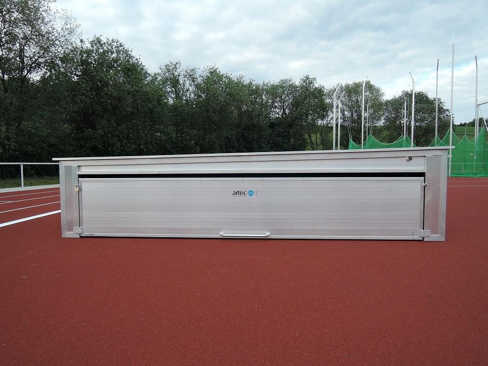 Fahrbare Sicherheitsabdeckung von artec Sportgeräte - Fussballtore für Kunstrasenplatz
