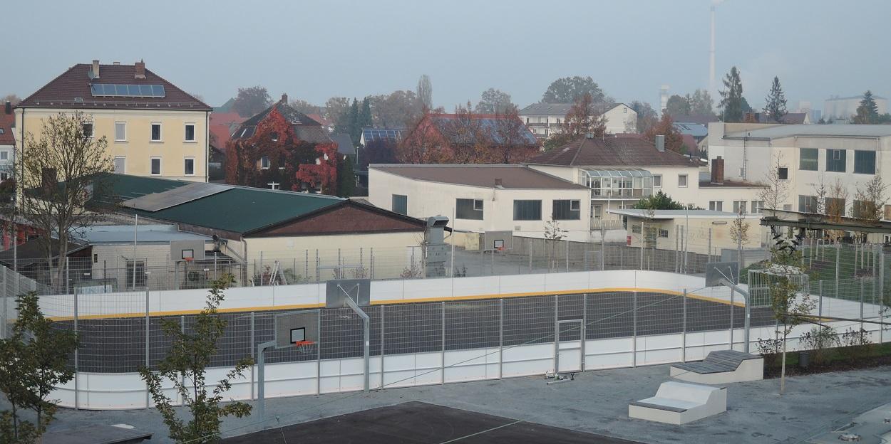 Minispielfeld Fussball Banden Soccer Court