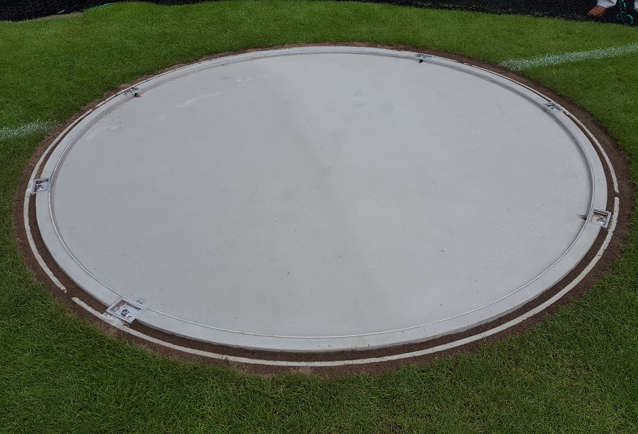 athletics equipment discus ring prefab