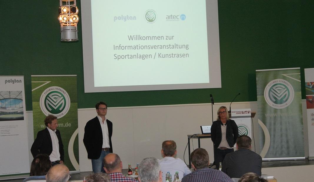 Kunstrasen Seminar beim FVM mit artec Sportgeräte