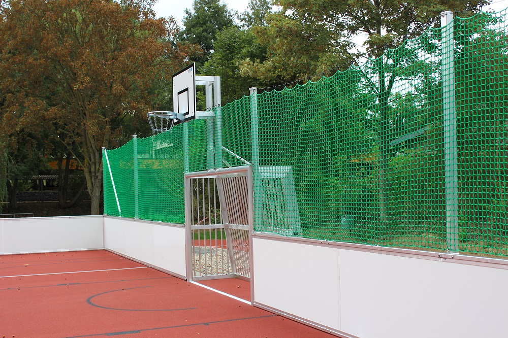 recreational goal with basketball post