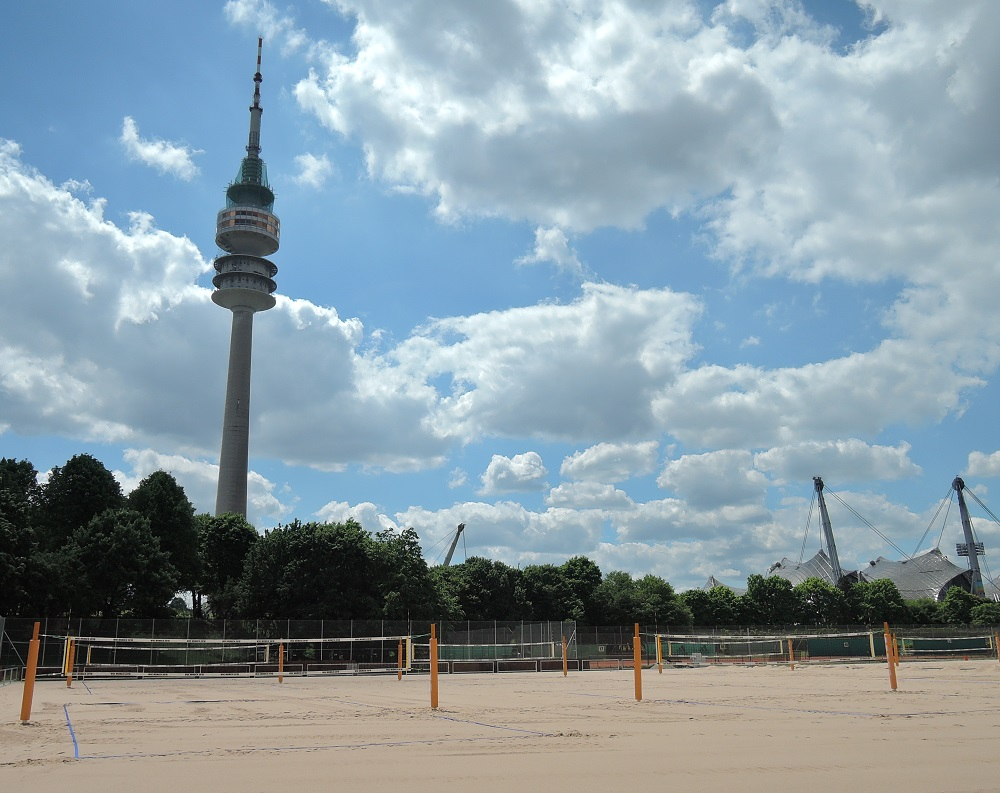 Beachvolleyball courts for tournament