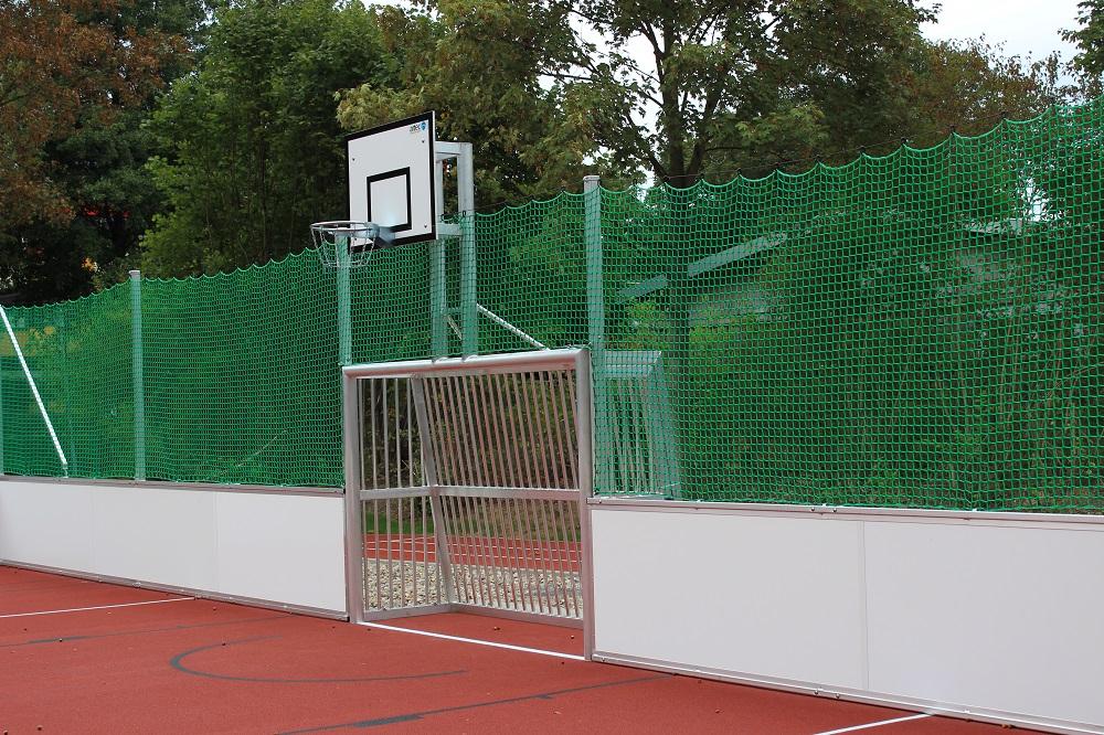 recreational goals soccer court basketball
