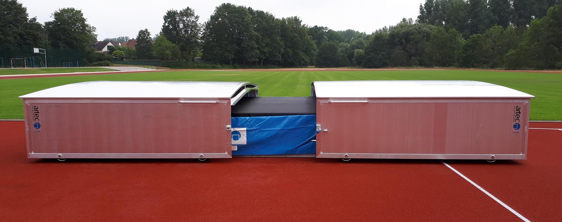 Hochsprunganlage IAAF mit Auflageraster Abdeckung Hochsprungmatte