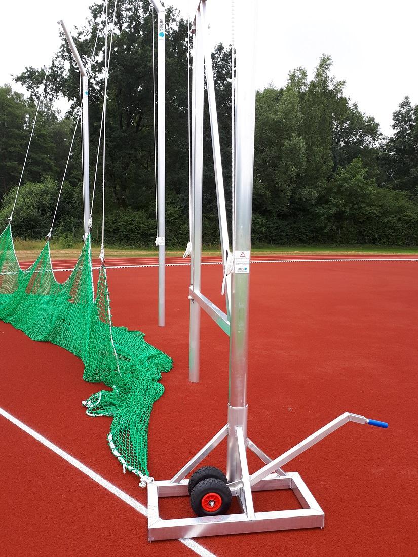 discus cage IAAF with flexible door