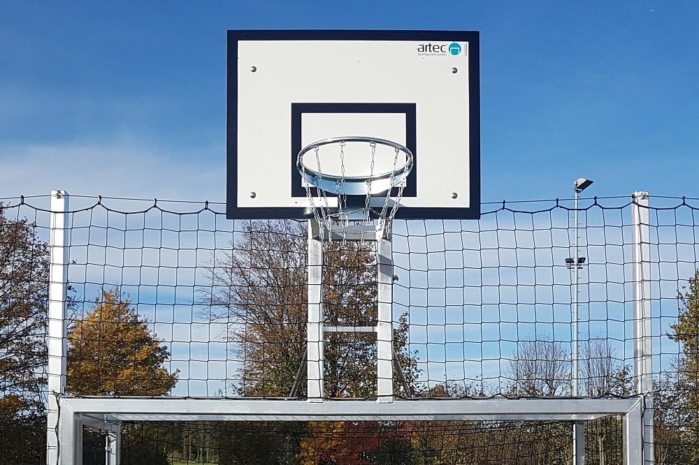 Kleinspielfeld Basketballaufbau