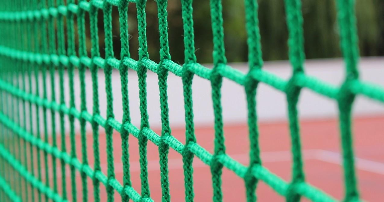 football goals net green