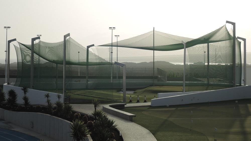Ballfanganlage auf Sportanlage im Club La Santa