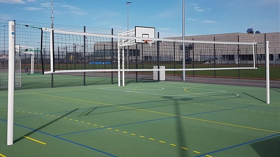 Volleyballpfosten im Sportpark Freiham