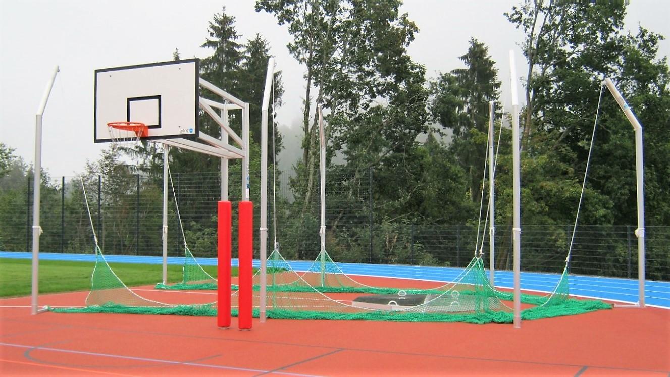 basketball post basketball unit two-pole