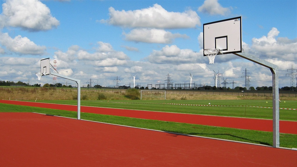 basketball posts from the manufacturer