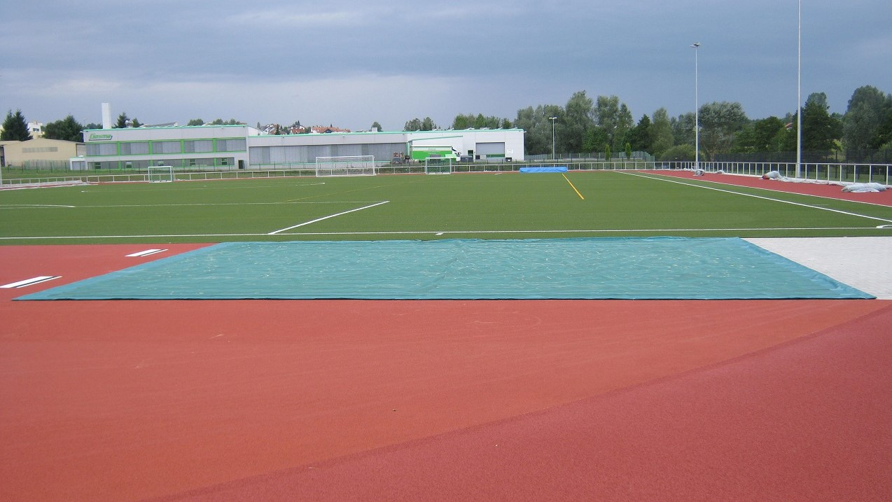 cover for long jump facility