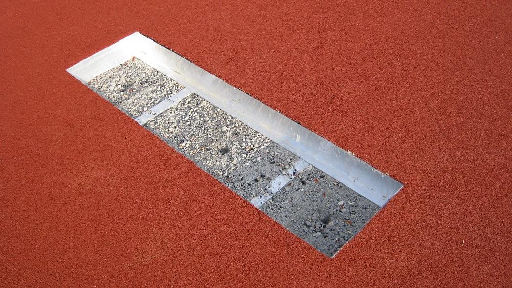 foundation trough for take-off board