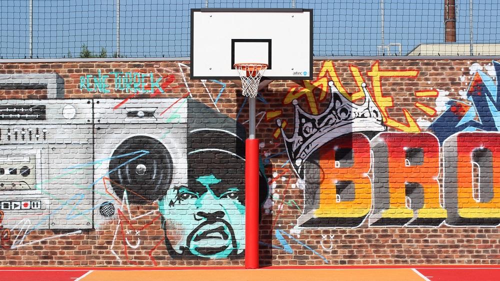 outdoor basketball post