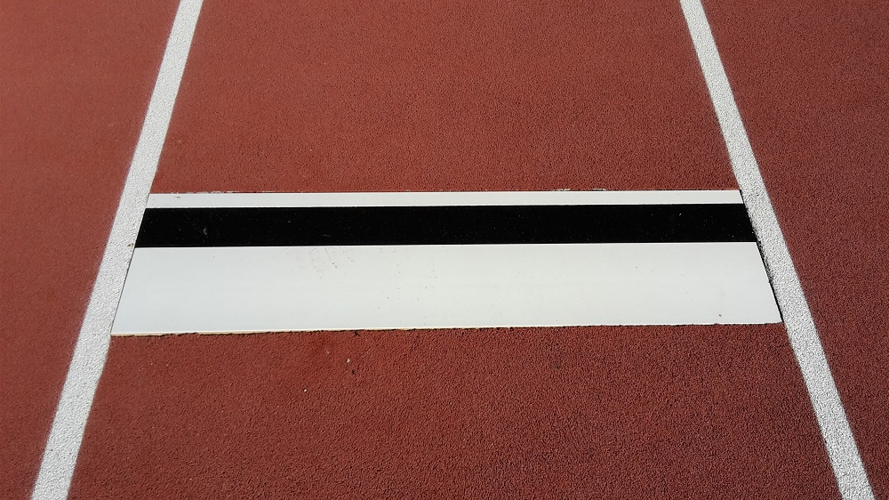 take-off board for long jump facility