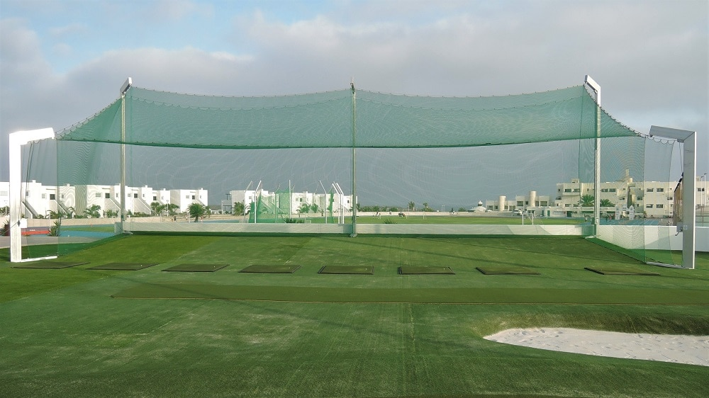 ball stop net for driving range