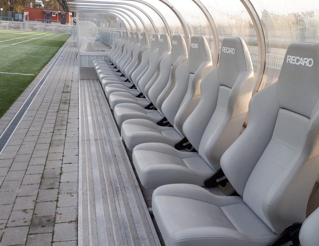 Comfortable team cabins with Recaro seats by artec Sportgeräte