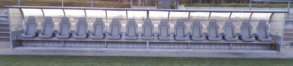 Team cabin with 15 Recaro seats