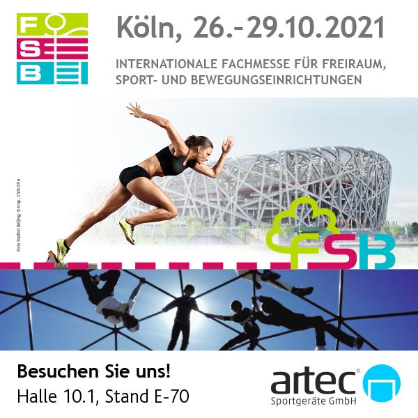 Besuchen Sie artec Sportgeräte auf der FSB 2021 in Köln